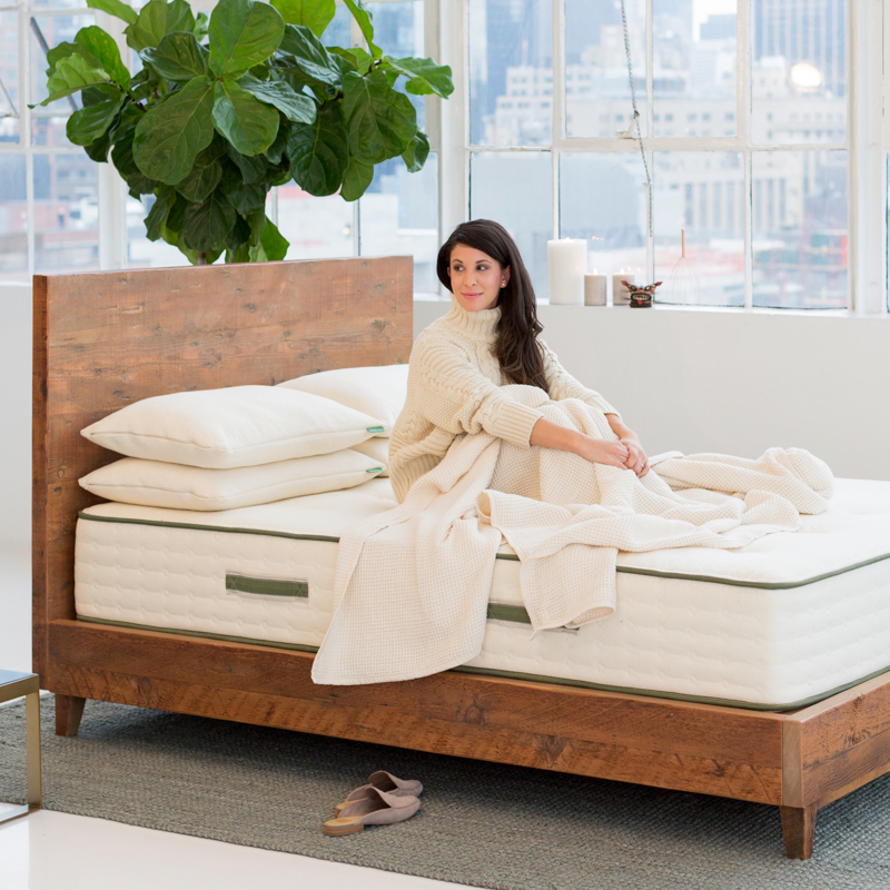 Avocado Reclaimed Natural Wood Bed Frame