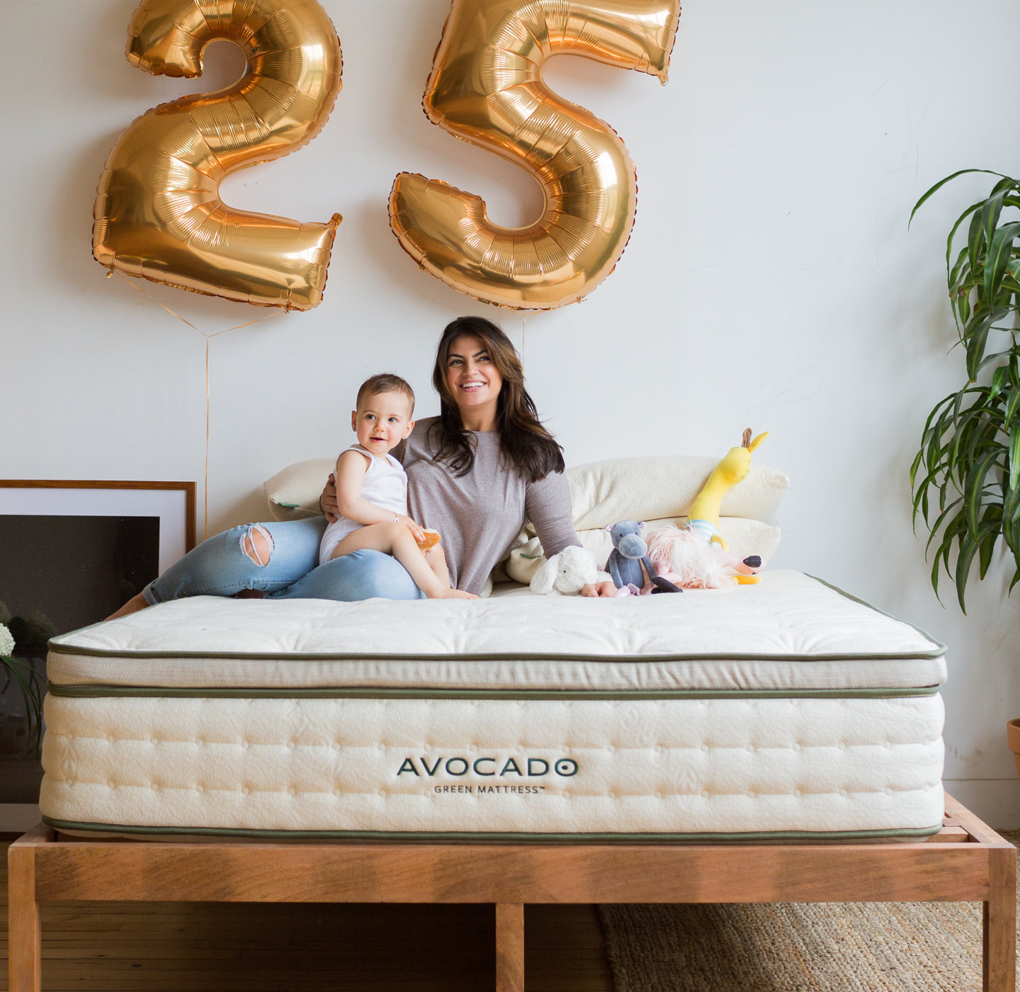 25 year Warranty Avocado Green Mattress