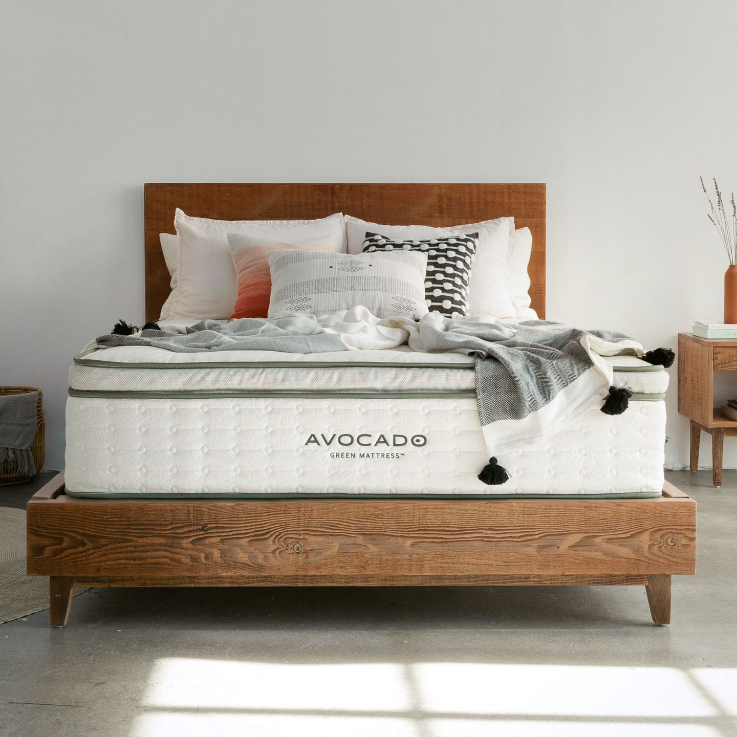Reclaimed Wood Bed Frame Organic Mattress Sale