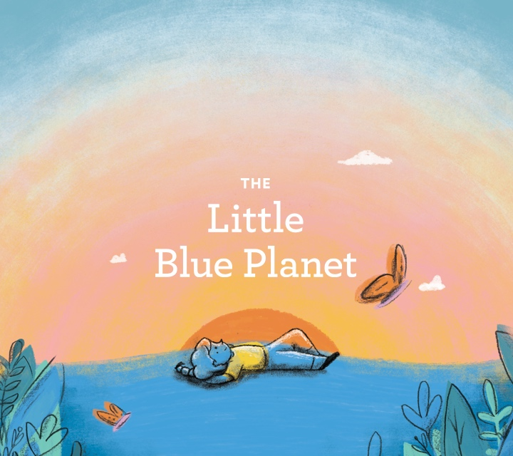 The Little Blue Planet Children's Book Product Photo