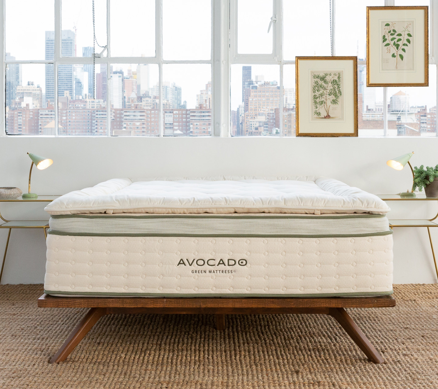 Alpaca Wool Plush Mattress Topper Product Photo