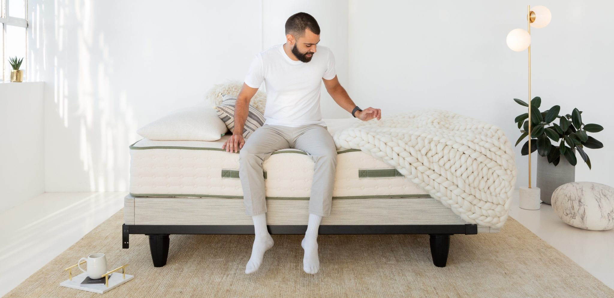 Best Mattress for Back Pain Man on Bed