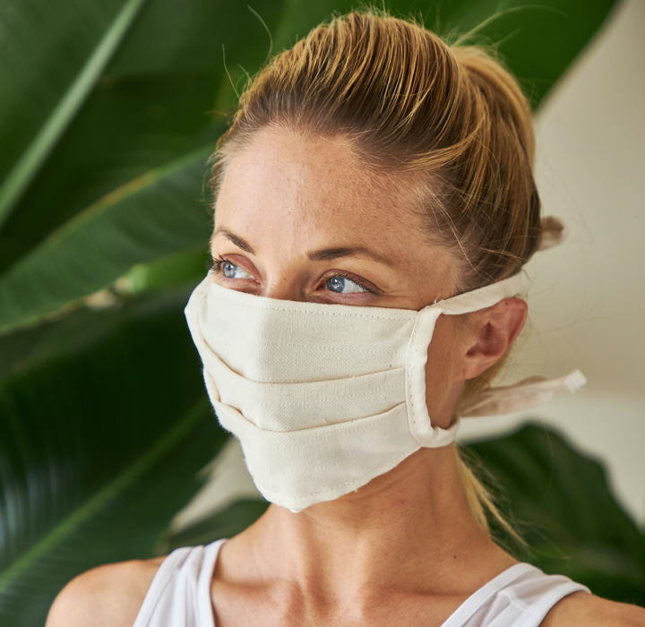 Reusable organic face mask